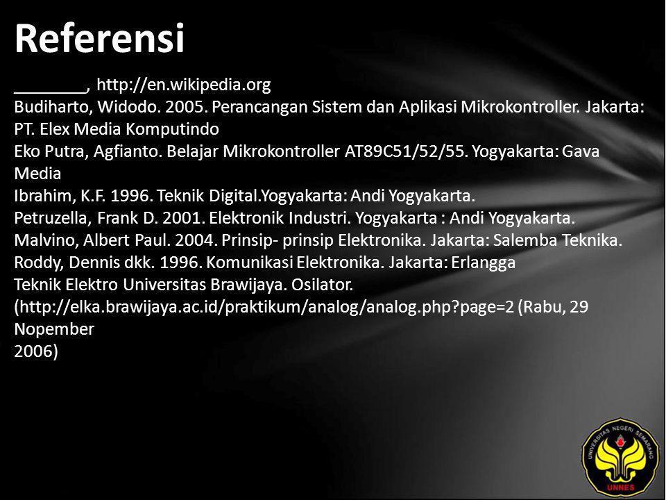 Referensi ________, http://en.wikipedia.org Budiharto, Widodo.