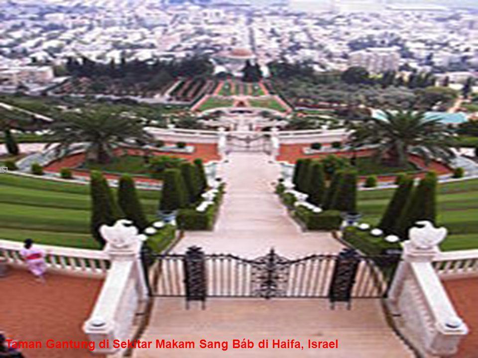 Taman Gantung di Sekitar Makam Sang Báb di Haifa, Israel