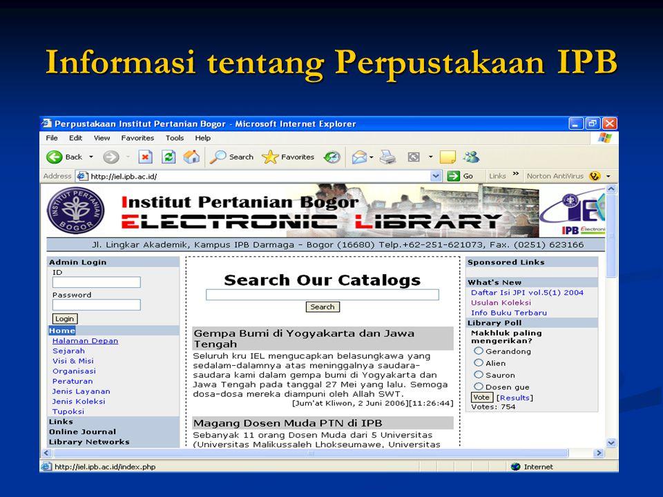 Informasi tentang Perpustakaan IPB