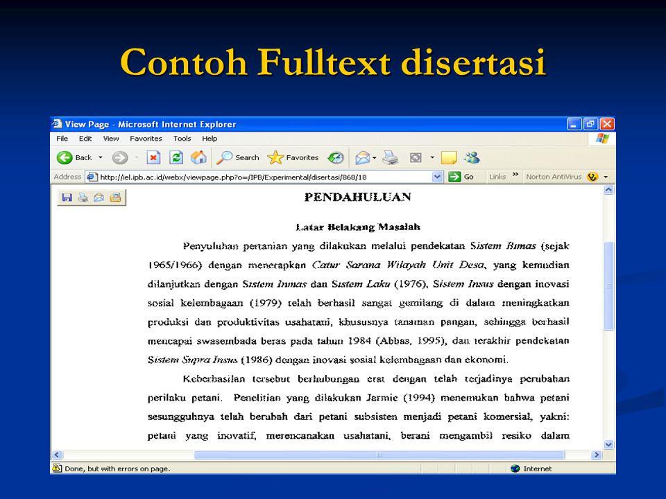 Contoh Fulltext disertasi
