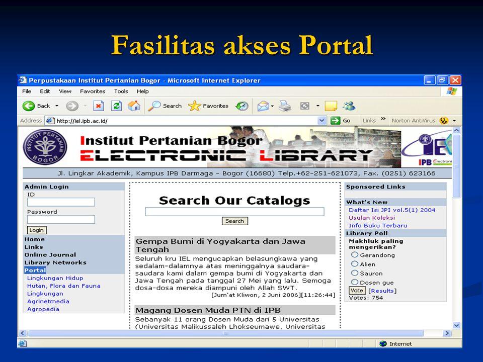 Fasilitas akses Portal