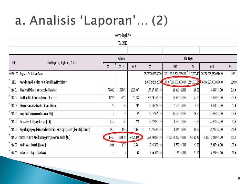 • Seperti dijelaskan pada contoh di atas bahwa terdapat kesalahan dalam pencantuman volume output.