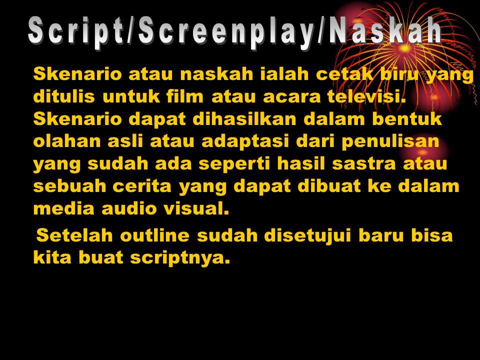 Skenario atau naskah ialah cetak biru yang ditulis untuk film atau acara televisi. Skenario dapat dihasilkan dalam bentuk olahan asli atau adaptasi da