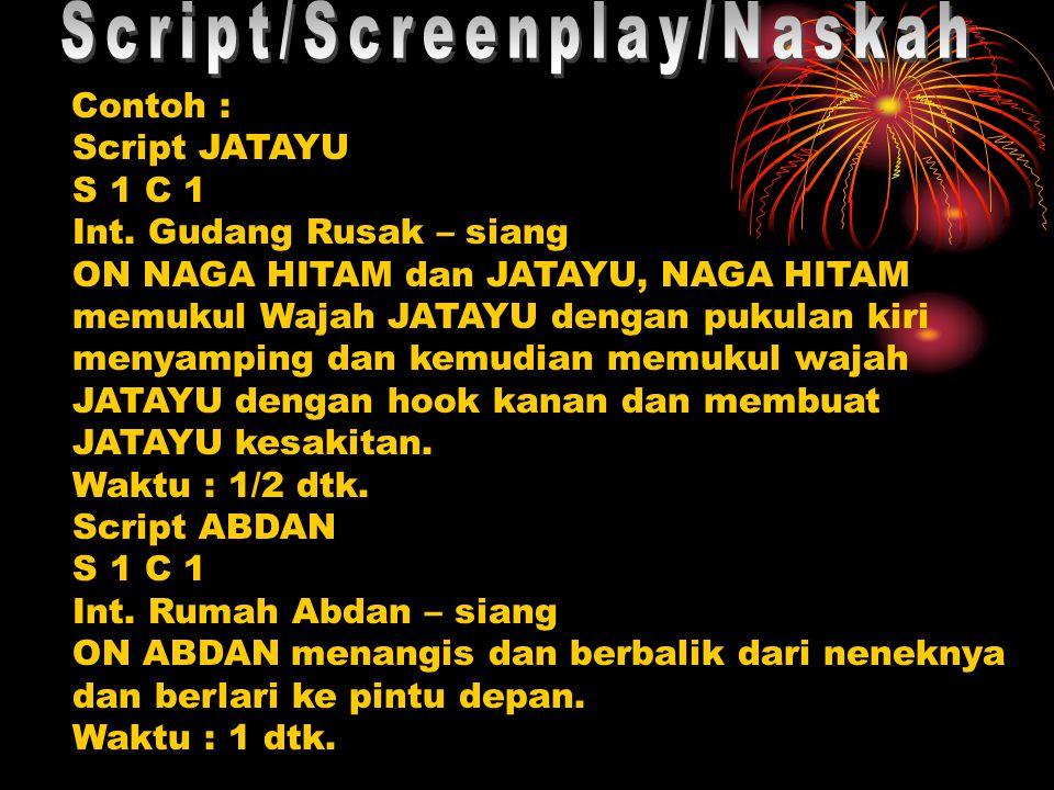 Contoh : Script JATAYU S 1 C 1 Int.