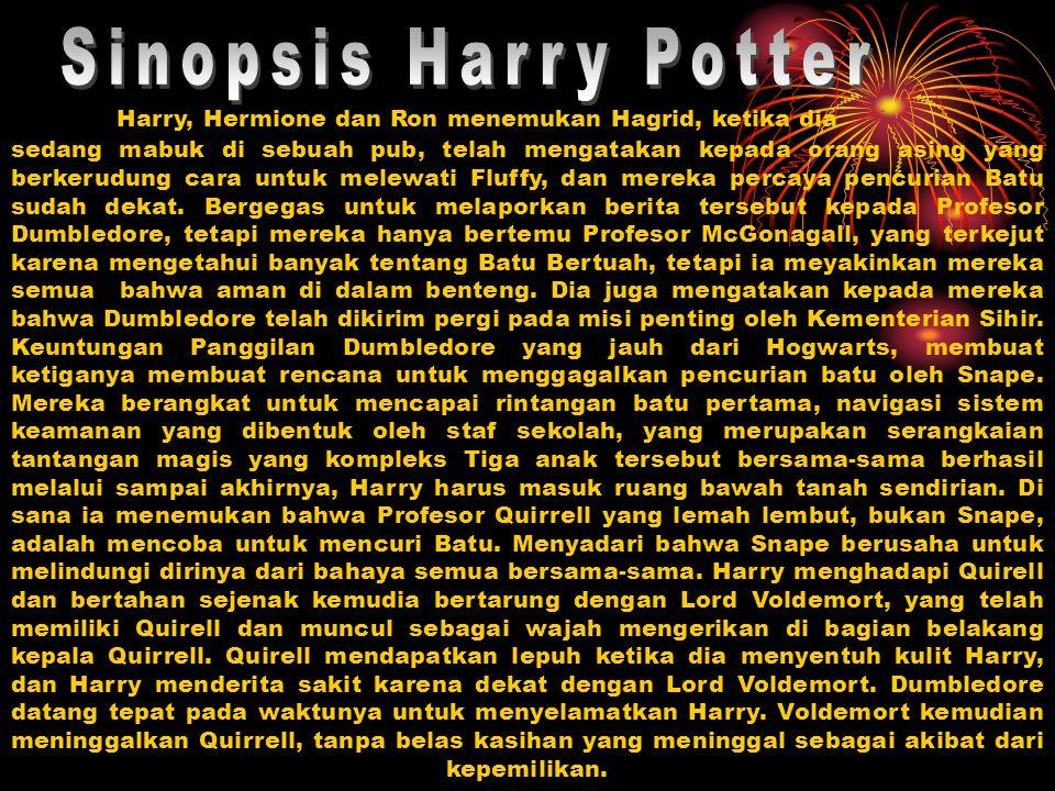 Dumbledore menunjukkan pada Harry bahwa ibu Harry meninggal untuk melindungi Harry sebagai seorang bayi.
