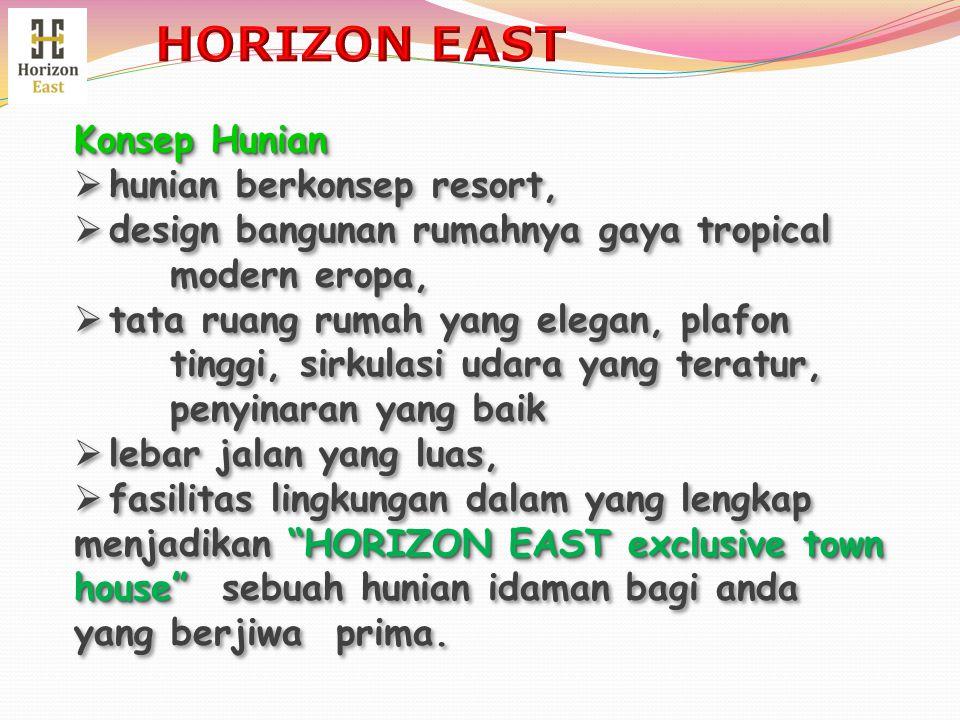 Konsep Hunian  hunian berkonsep resort,  design bangunan rumahnya gaya tropical modern eropa,  tata ruang rumah yang elegan, plafon tinggi, sirkula