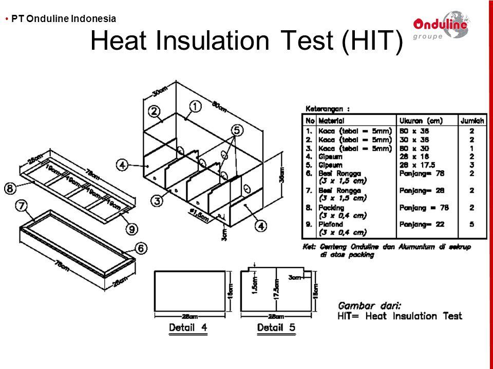 • PT Onduline Indonesia Heat Insulation Test (HIT)