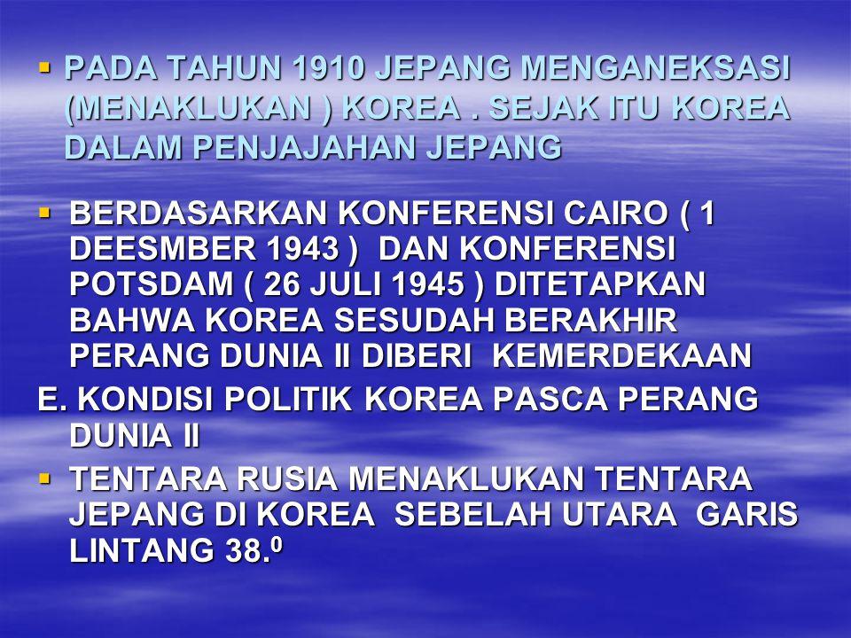  MAKA WILAYAH KOREA SEBELAH UTARA GARIS LINTANG 38.