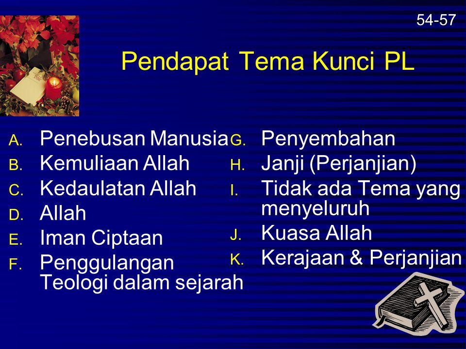 Teologi Alkitab Ringkas dari Alkitab (oleh Ng Han Lim) Pemulihan Mandat Budaya yang diberikan Allah untuk manusia Allah menebus Umat manusia dari Kutu