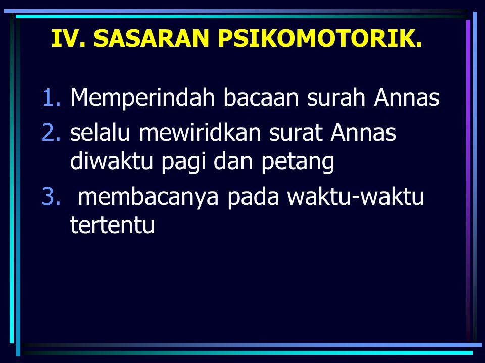 1.Memperindah bacaan surah Annas 2.selalu mewiridkan surat Annas diwaktu pagi dan petang 3.