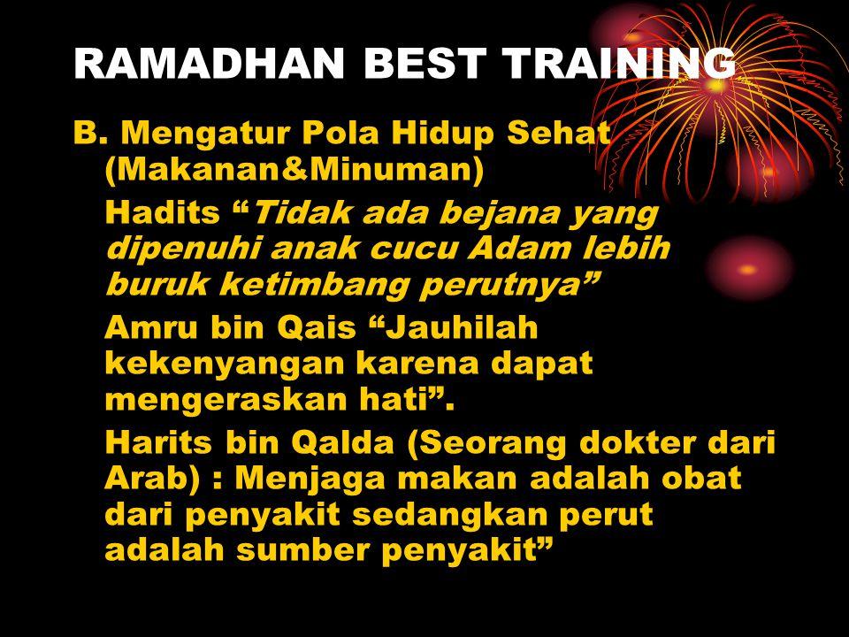 RAMADHAN BEST TRAINING B.