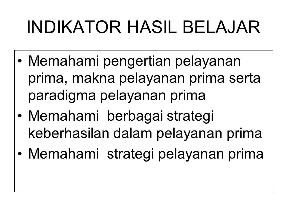 PENGEMBANGAN PELAKSANAAN PELAYANAN PRIMA Disajikan dalam Diklat Pim III Presented by : Dra Hj Wahyu Suprapti,MM,MPSi-T Widyaiswara Utama Depnakertrans