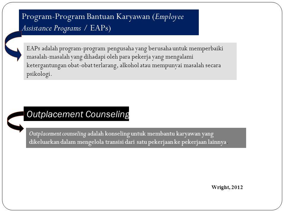 Program-Program Bantuan Karyawan (Employee Assistance Programs / EAPs) EAPs adalah program-program pengusaha yang berusaha untuk memperbaiki masalah-m