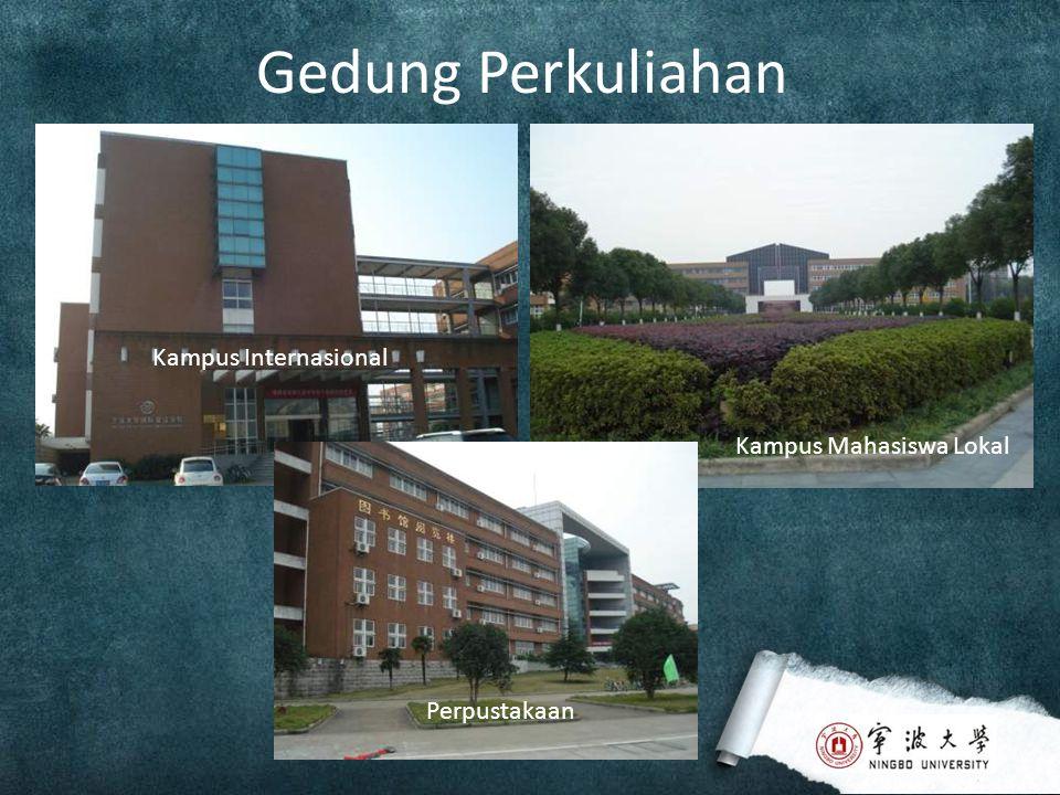 Gedung Perkuliahan Kampus Internasional Kampus Mahasiswa Lokal Perpustakaan