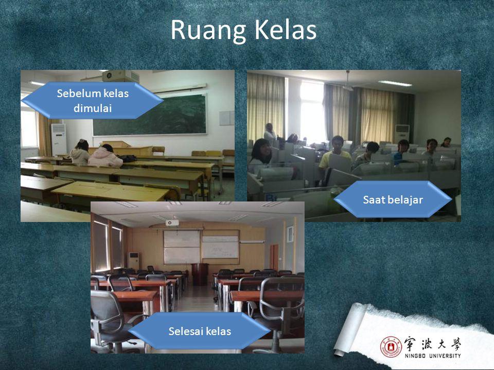 Ruang Kelas Sebelum kelas dimulai Saat belajarSelesai kelas