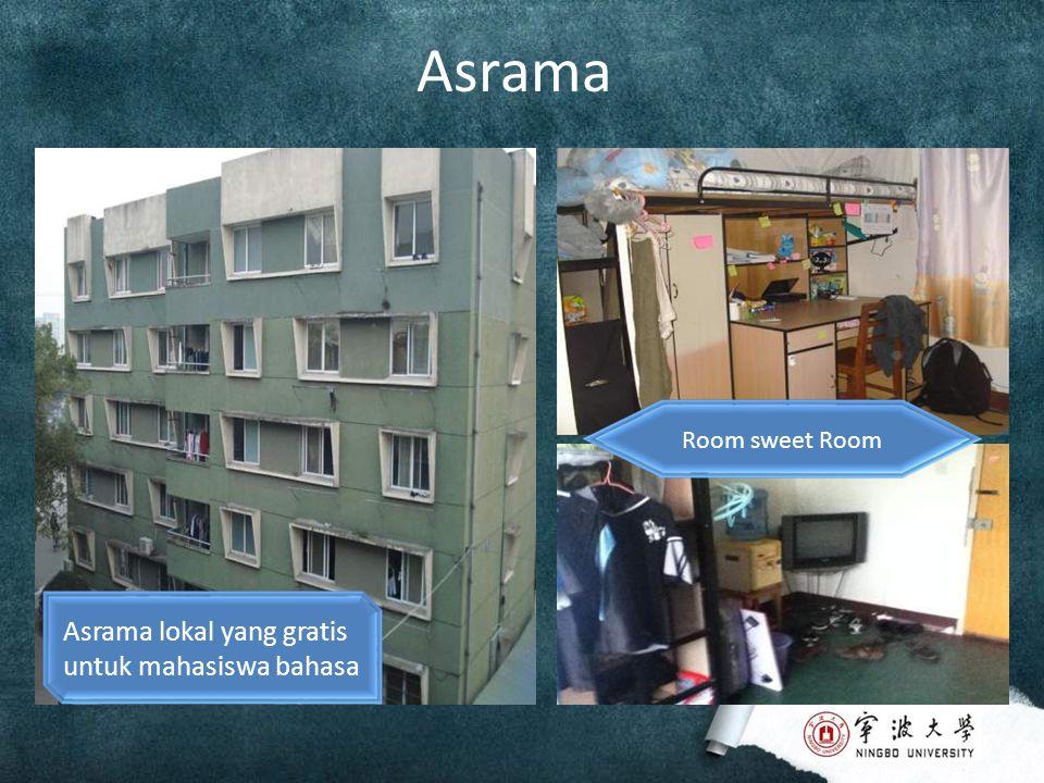 Asrama Asrama lokal yang gratis untuk mahasiswa bahasa Room sweet Room