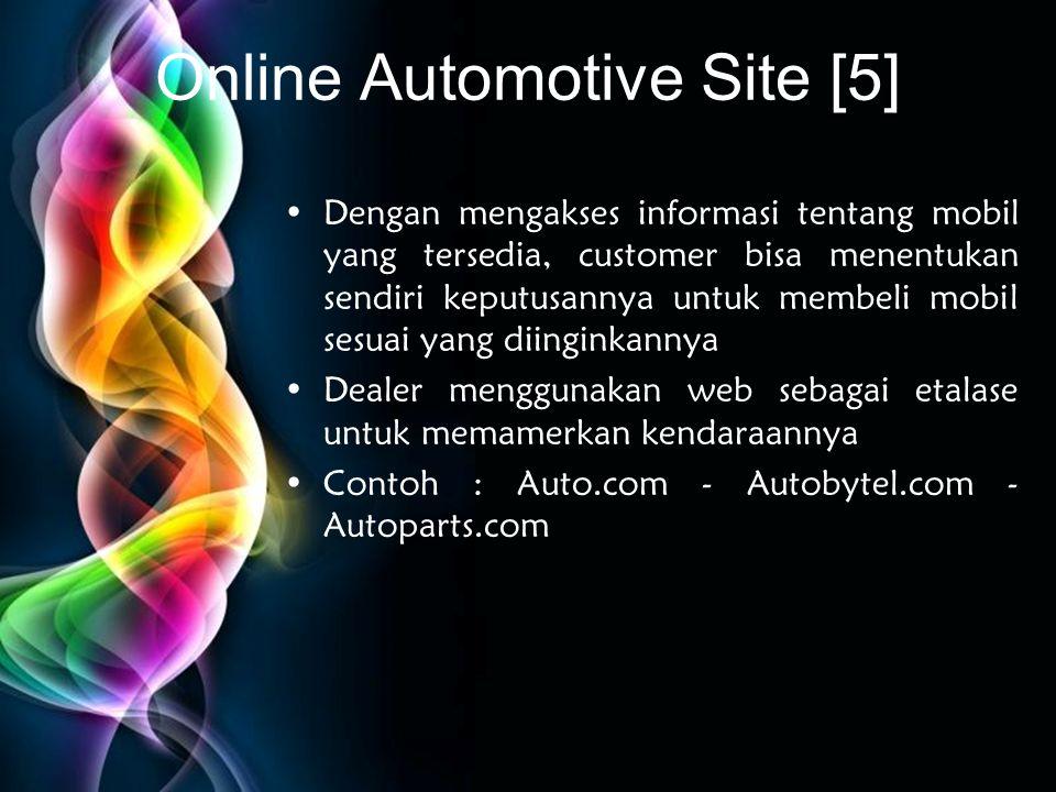Free Powerpoint Templates Online Automotive Site [5] •Dengan mengakses informasi tentang mobil yang tersedia, customer bisa menentukan sendiri keputus