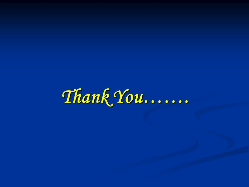 Thank You…….
