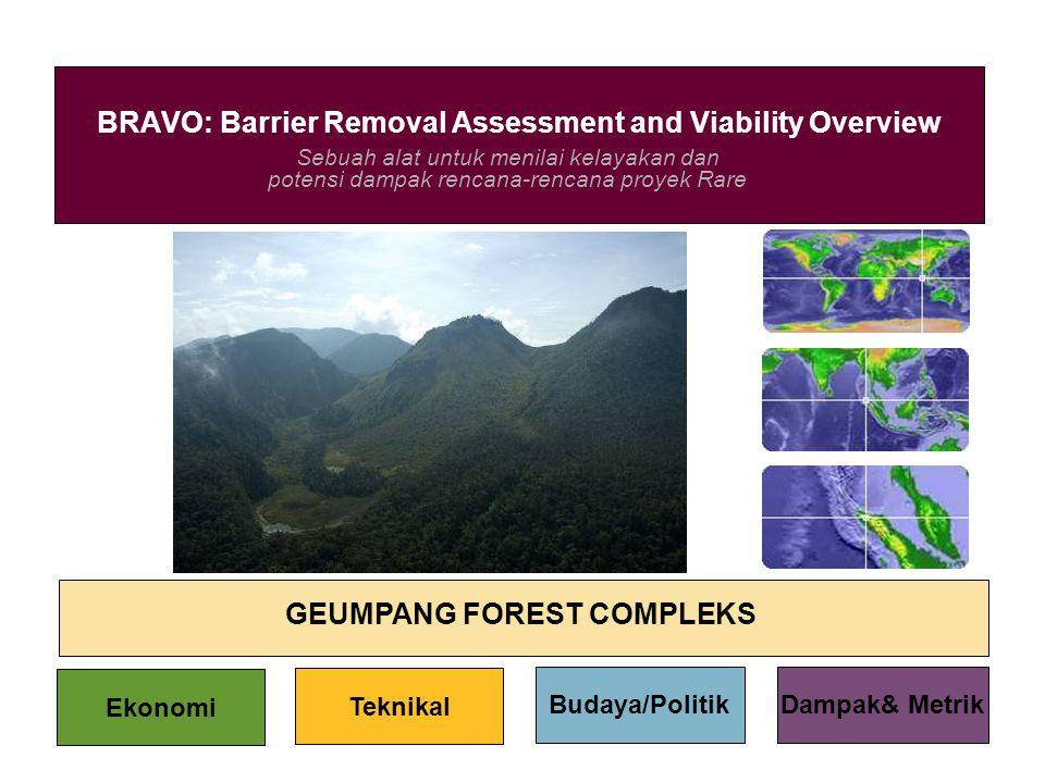 Sebuah alat untuk menilai kelayakan dan potensi dampak rencana-rencana proyek Rare BRAVO: Barrier Removal Assessment and Viability Overview GEUMPANG F
