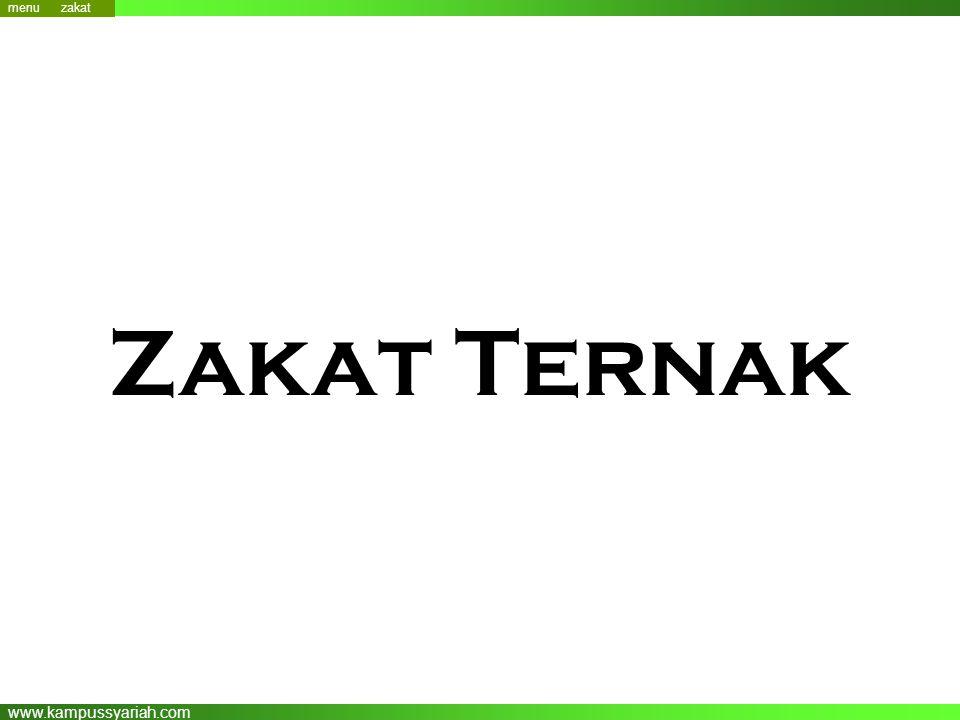 www.kampussyariah.com Zakat Ternak menu zakat
