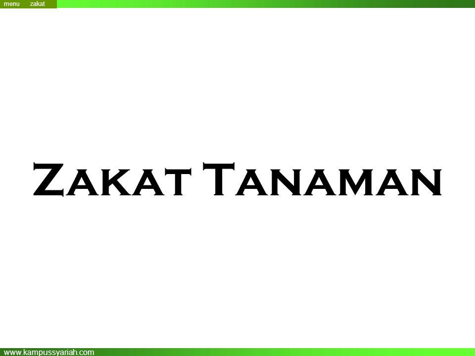 www.kampussyariah.com Zakat Tanaman menu menu zakat