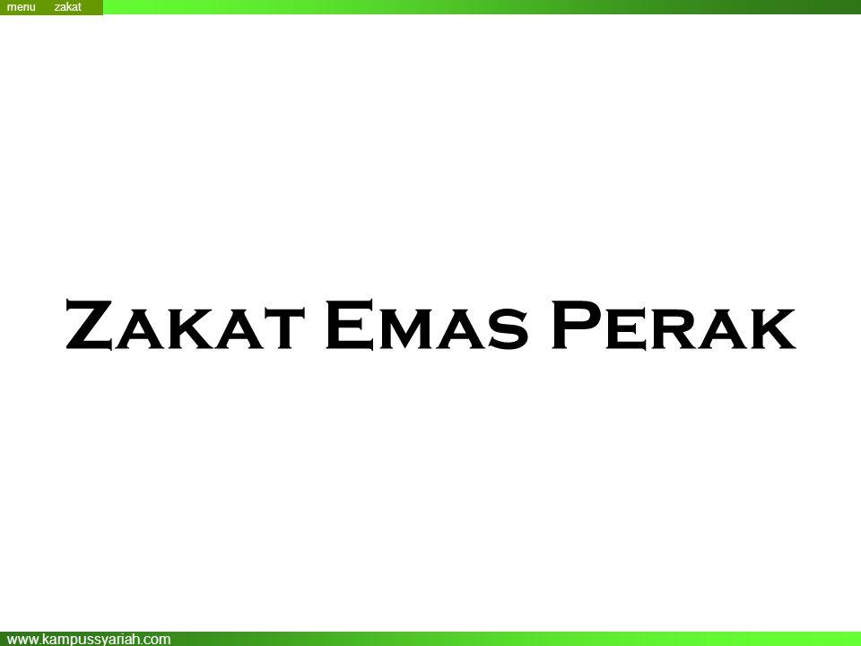 www.kampussyariah.com Zakat Emas Perak menu zakat