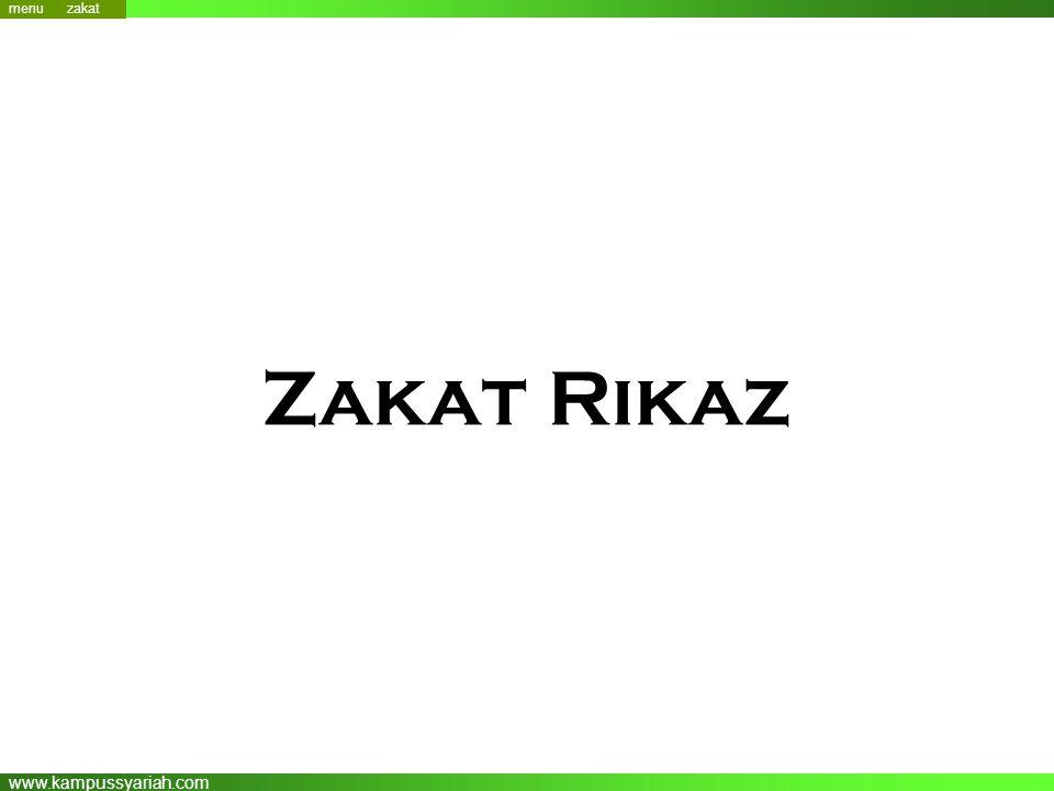 www.kampussyariah.com Zakat Rikaz menu zakat