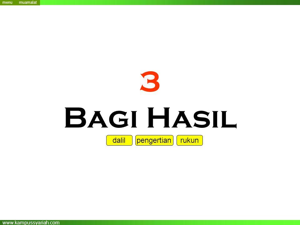 www.kampussyariah.com 3 Bagi Hasil menu dalil pengertian rukun menu muamalat
