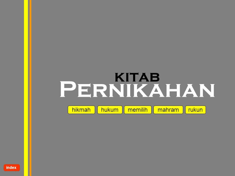 www.kampussyariah.com kitab Pernikahan hikmah hukum mahram memilihrukun index