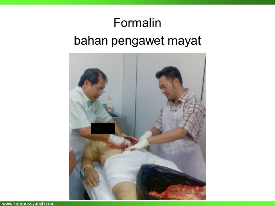 www.kampussyariah.com Formalin bahan pengawet mayat
