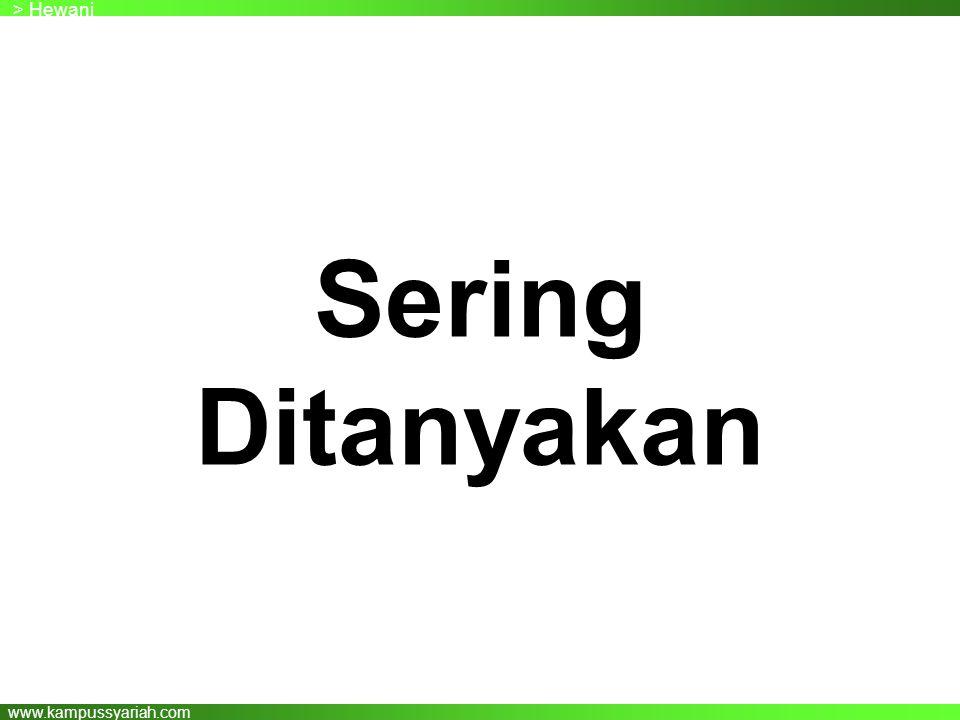 www.kampussyariah.com Sering Ditanyakan > Hewani