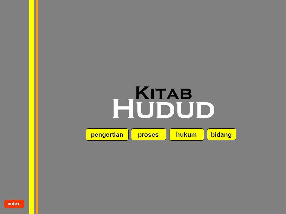 Kitab Hudud pengertian proses hukum bidang index