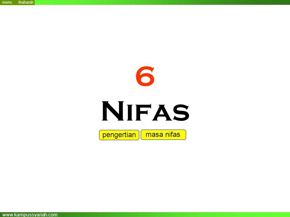 www.kampussyariah.com 6 Nifas menu pengertian masa nifas thaharah