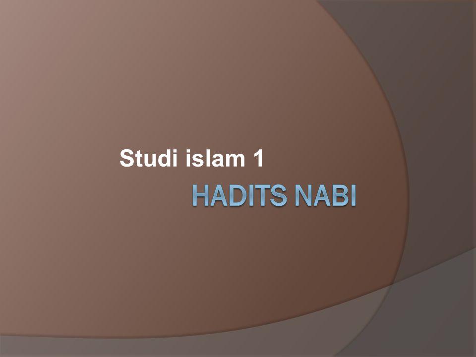 Studi islam 1