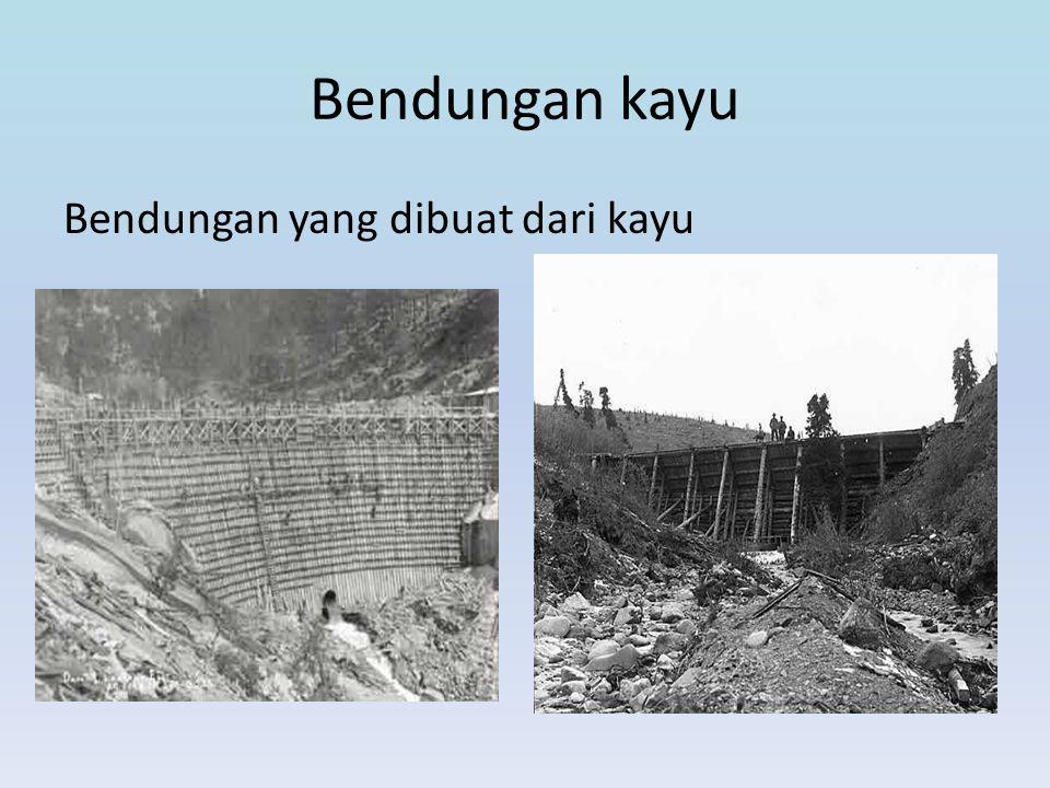 Komponen Pendukung Bendungan • Saluran curam banjir Saluran yang dibangun dalam bendungan untuk mengalirkan air yang berlebih, seperti banjir, dan lain sebagainya