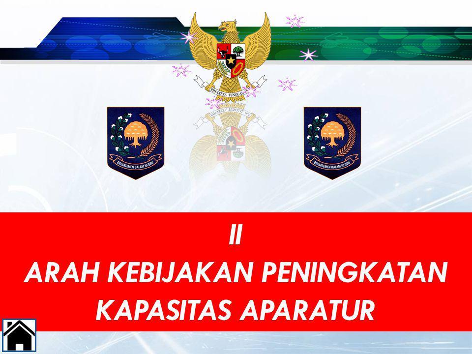 II ARAH KEBIJAKAN PENINGKATAN KAPASITAS APARATUR 9