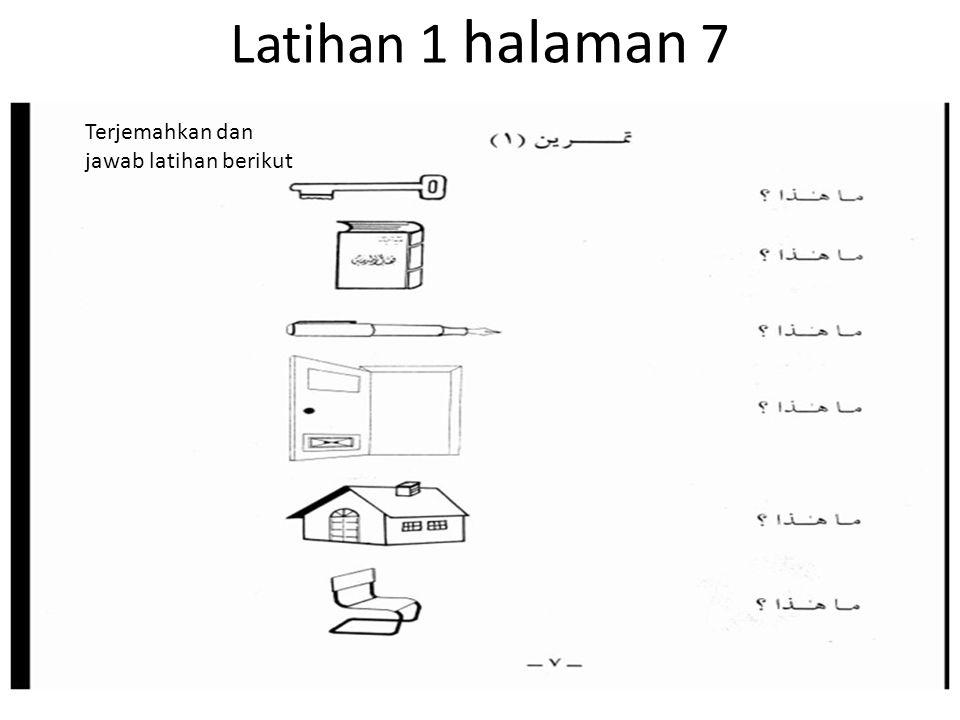 Latihan 1 halaman 7 Terjemahkan dan jawab latihan berikut