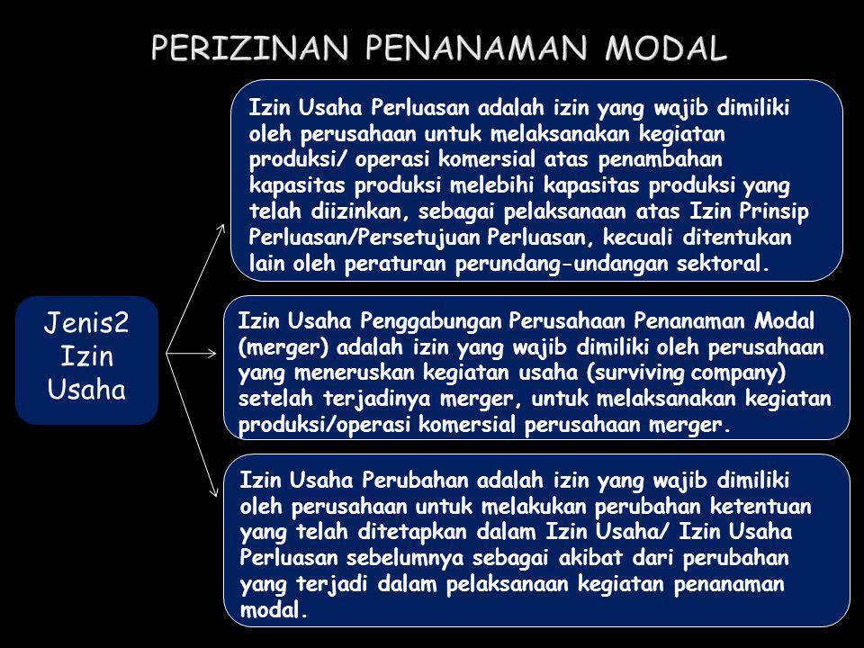 Jenis2 Izin Usaha Izin Usaha Perluasan adalah izin yang wajib dimiliki oleh perusahaan untuk melaksanakan kegiatan produksi/ operasi komersial atas pe