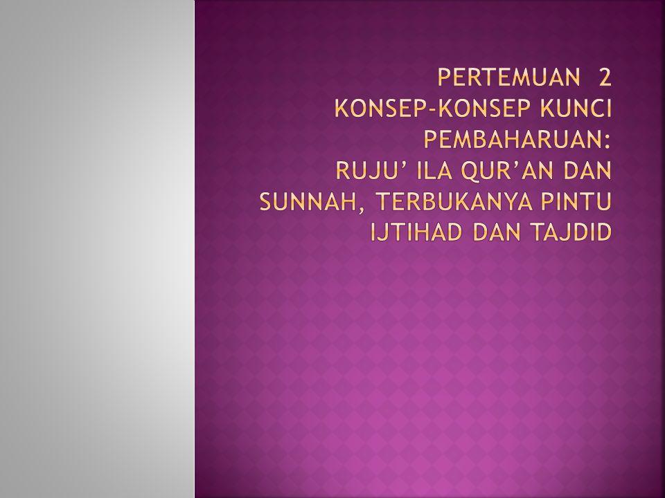  kondisi masyarakat saat itu yang mulai jauh dari nilai-nilai Islam.