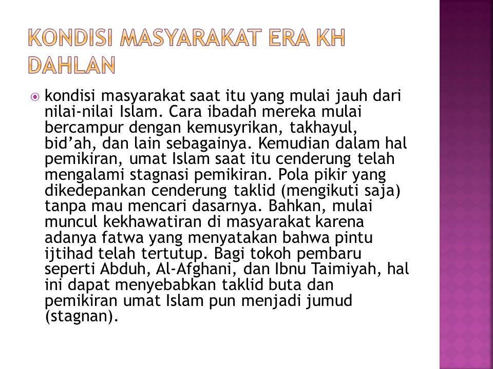 Pertama, Muhammadiyah sebagai gerakan tajdid terus mendorong tumbuhnya gerakan pemurnian ajaran Islam dalam masalah yang baku (al- tsawabit) dan pengembangan pemikiran dalam masalah-masalah ijtihadiyah yang menitikberatkan aktivitasnya pada dakwah amar makruf nahi munkar.