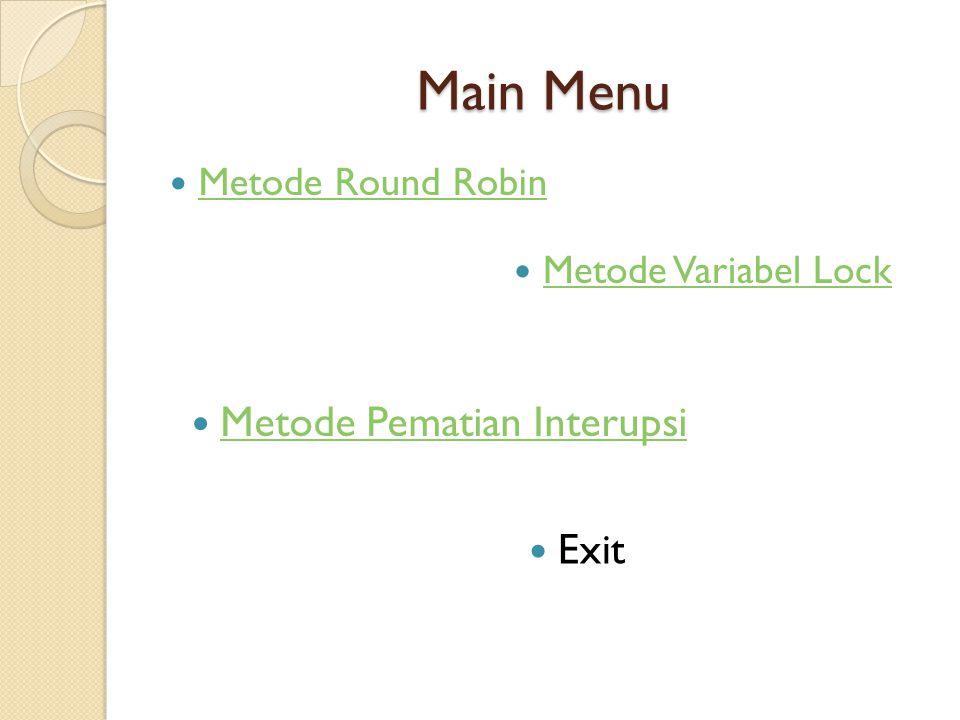 Round Robin adalah metode yang di lakukan oleh penjadwal kepada suatu proses.