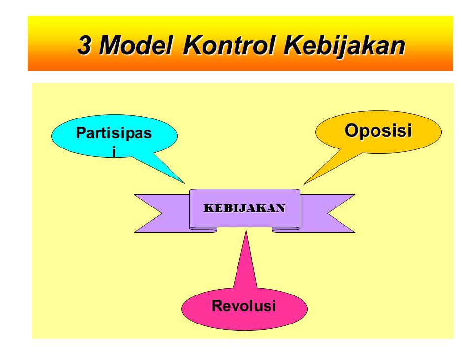 Oposisi Partisipas i KEBIJAKAN Revolusi 3 ModelKontrol Kebijakan 3 Model Kontrol Kebijakan