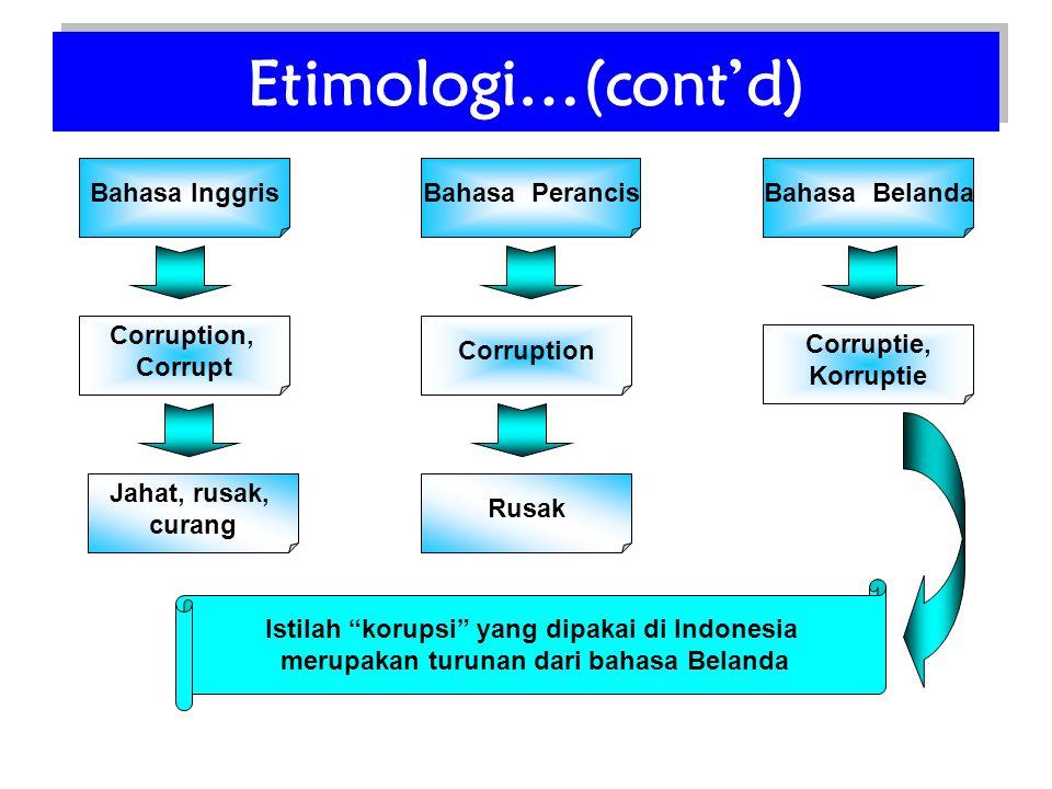 Salah satu hal mengapa di indonesia korupsi semakin sulit diberantas •Karena korupsi sudah mendarah daging , sehingga perilaku korupsi sudah menjadi hal yang biasa dan bukan lagi dianggap sebagai penyakit yang harus segera disembuhkan.