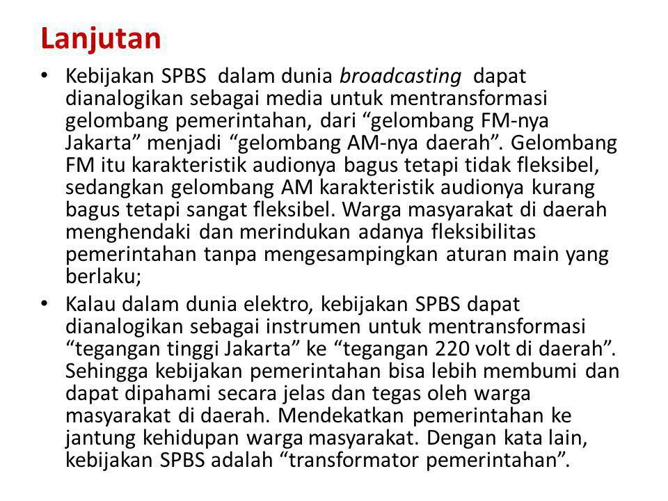 ESENSI KEBIJAKAN SUMEDANG PUSEUR BUDAYA SUNDA ( PERBUP NOMOR 113 TAHUN 2009) • SPBS adalah sebuah kebijakan inovatif untuk memfasilitasi pelestarian budaya Sunda di Kabupaten Sumedang guna memperkokoh kebudayaan Jawa Barat dan Nasional; • Adapun tujuannya adalah untuk memperkokoh jatidiri aparatur pemerintah daerah dan masyarakat serta menguatkan daya saing daerah; • SPBS sejatinya merupakan bentuk kongkrit dari pembangunan berwawasan budaya yang dikembangkan di Kabupaten Sumedang; • Karena itu tolok ukur keberhasilan pembangunan di Kabupaten Sumedang dalam perspektif SPBS, bukan hanya terwujudnya kesejahteraan masyarakat secara lahiriah, tetapi juga kebahagiaan masyarakat secara bathiniah serta menguatnya harkat martabat;