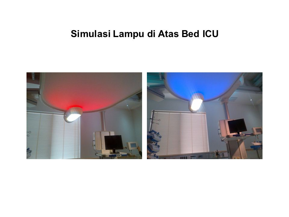 Simulasi Lampu di Atas Bed ICU