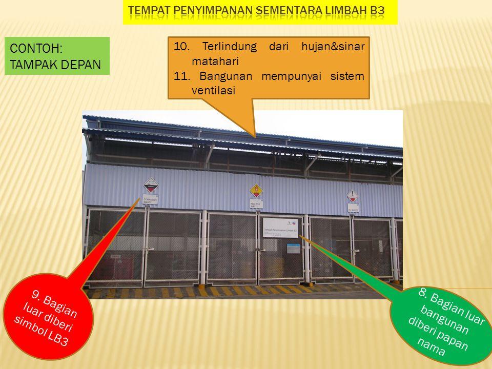 8.Bagian luar bangunan diberi papan nama 9. Bagian luar diberi simbol LB3 10.
