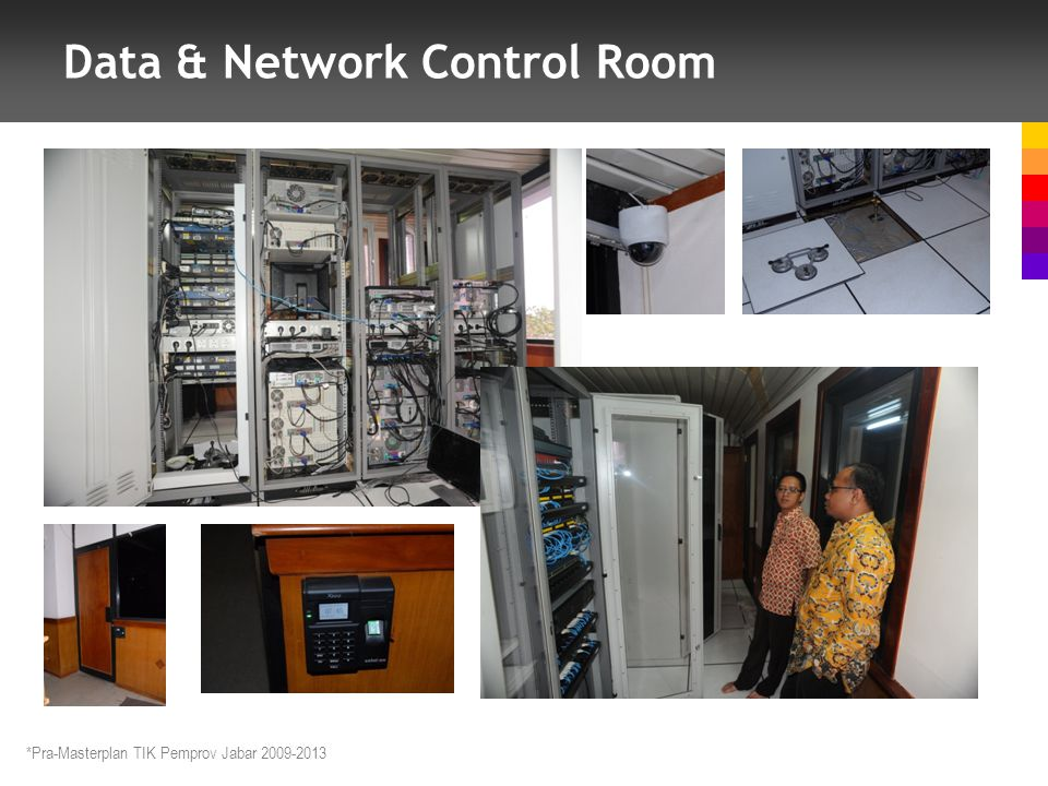 Data & Network Control Room *Pra-Masterplan TIK Pemprov Jabar 2009-2013
