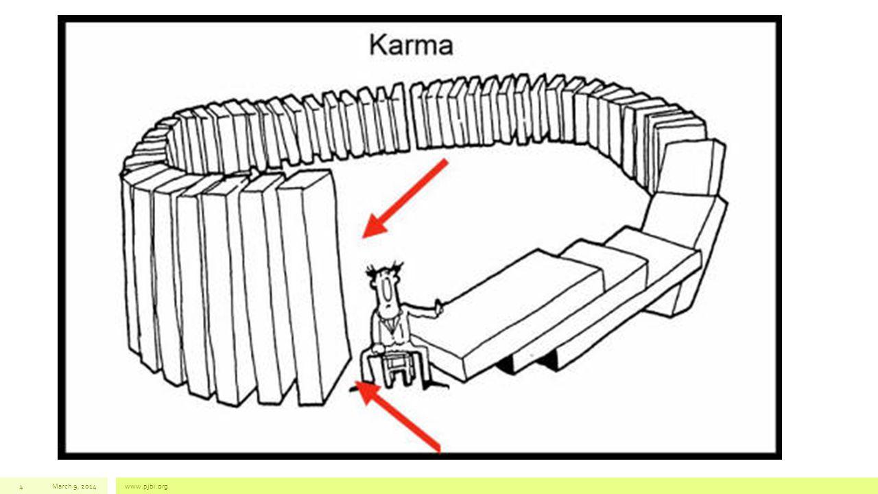 Kamma yang efektif di kehidupan berikutnya (upapajjavedan  ya) • Kamma yang ketika matang, menghasilkan resultan / hasil tepat di satu eksistensi berikutnya dimana dia dilaksanakan, sebaliknya jika tidak menemukan peluang untuk matang di dalam eksistensi yang sama, maka menjadi defungsi • Proses javana ke-7 (dari 7 javana) momen ini (yang terlemah kedua) membangkitkan kamma yang efektif di kehidupan selanjutnya March 9, 2014www.pjbi.org25