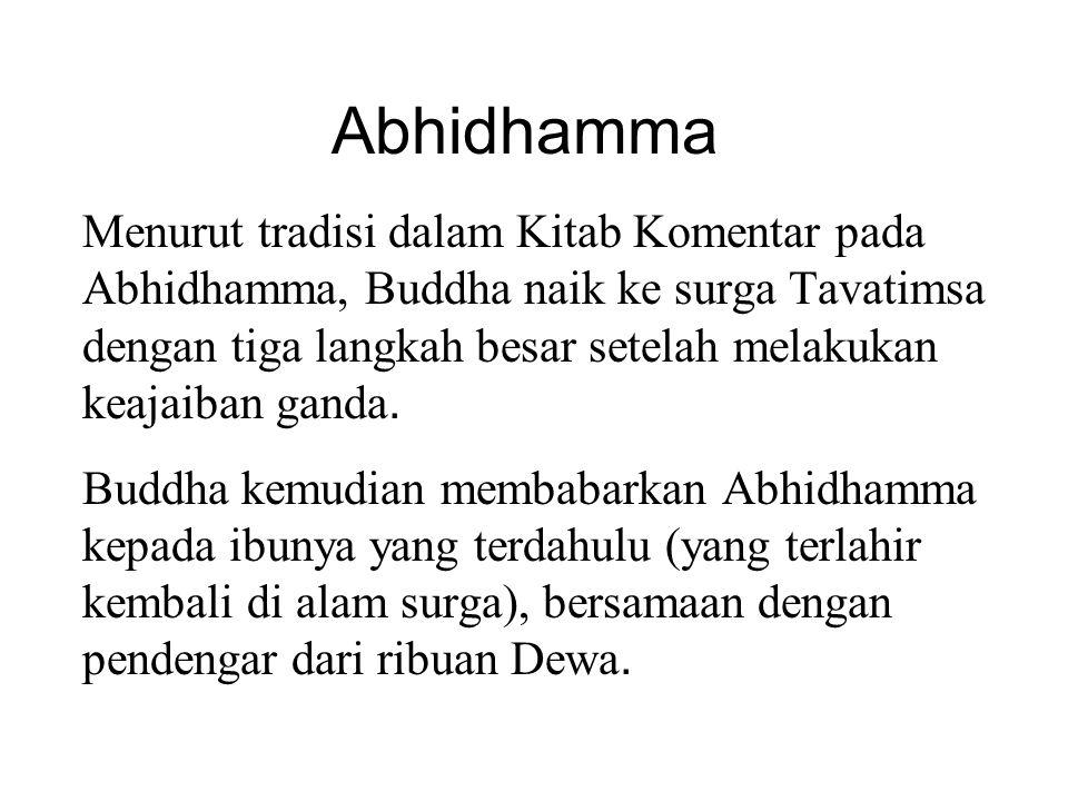 Proses pemikiran terakhir Menurut Theravada Abhidhamma, momen pemikiran terakhir sebelum kematian adalah sangat penting karena menentukan tujuan dan kondisi dari kehidupan yang akan datang.