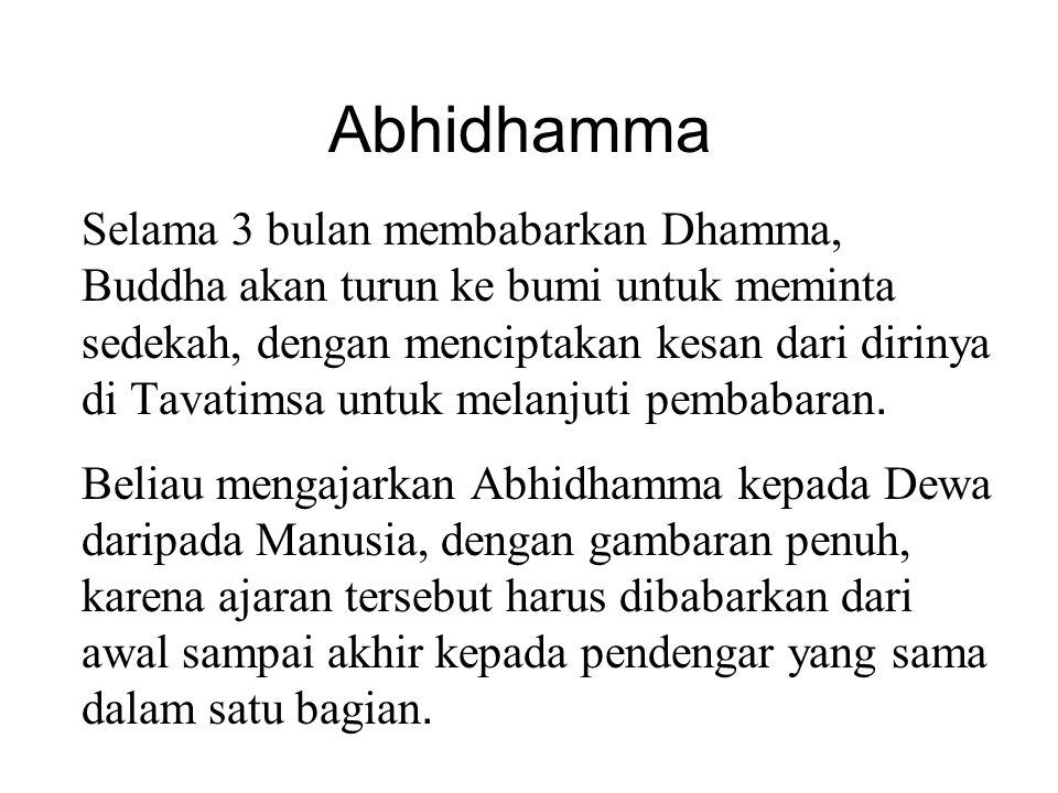Kesadaran / Citta Menurut Abhidhamma, jutaan pemikiran melewati pikiran kita setiap detiknya.